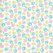 Moda - Good Day  - 6791 -  Modern Floral, Bursting Blooms on White - 22372 11 - Cotton Fabric